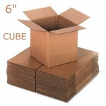 "Single Wall Brown Boxes 152x152x152mm (6""x6""x6"")"