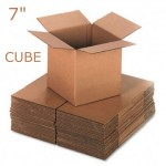 "Single Wall Brown Boxes 178x178x178mm (7""x7""x7"")"