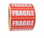 Fragile Printed Adhesive Labels